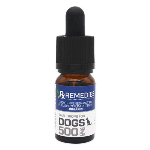 Rx Remedies, Dog Oral Drops, 50mg/mL, dog pain, anxious dog, cbd for dogs