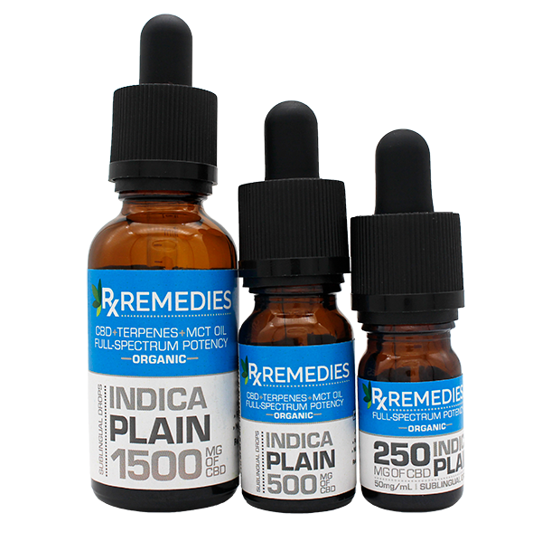Rx Remedies, Plain, Indica, 50mg/mL, Group