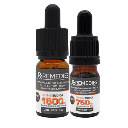 Rx Remedies, MultiCannabinoid, Orange, 150mg/mL, Indica