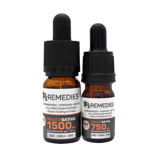 Rx Remedies, MultiCannabinoid, Orange, 150mg/mL, Sativa