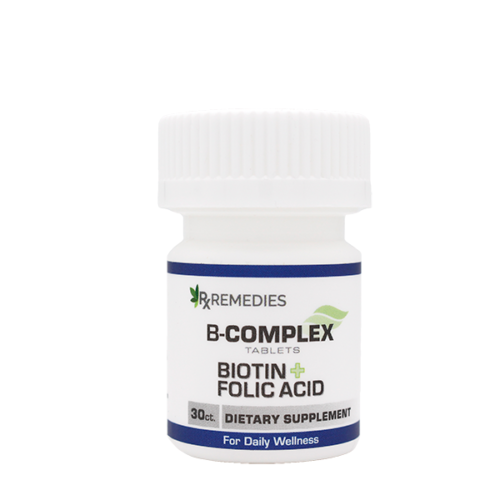 Rx Remedies, B-Complex Supplement with Biotin and Folic Acid