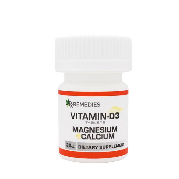 Rx Remedies, Vitamin D3 Supplement with Calcium and Magnesium